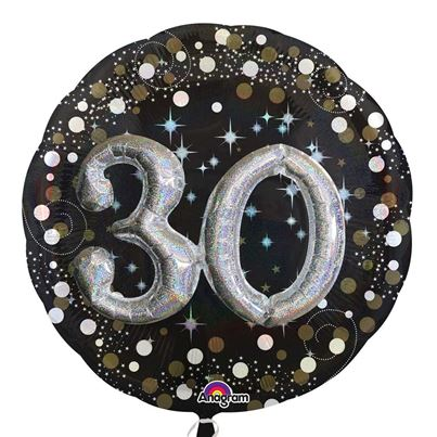 3D Sparkling Birthday 30