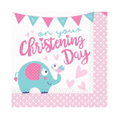 On Your Christening Day Napkins