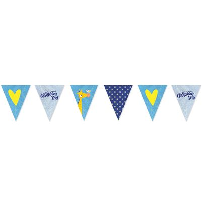 Amscan Christening Day Pennant Banner