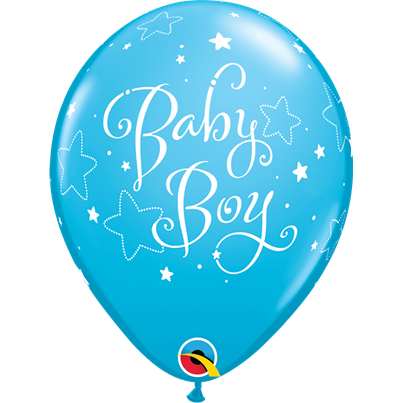 Qualatex Baby Boy Stars Blue 6pk