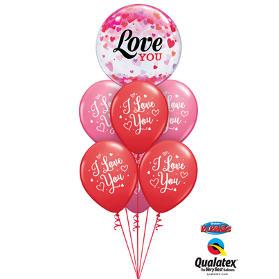 Qualatex Love You Confetti Hearts Luxury