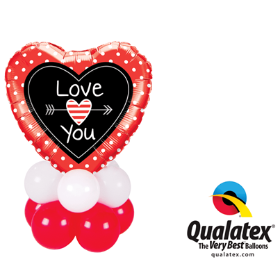 Qualatex Love You Dots and Arrows Mini
