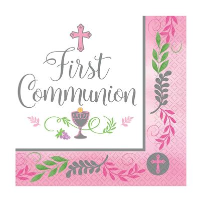 Amscan First Communion Napkins 36pk