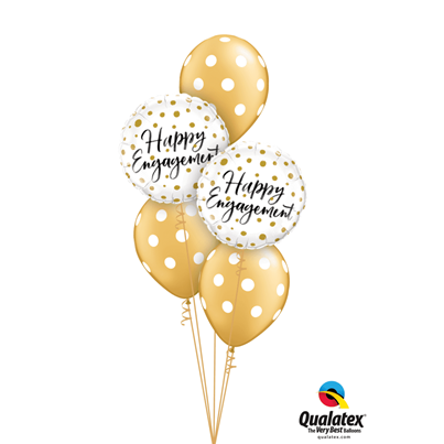 Qualatex Happy Engagement Gold Dot's Classic
