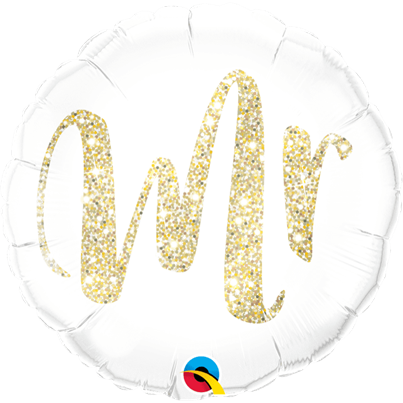 Qualatex 'Mr' Gold Foil Balloon