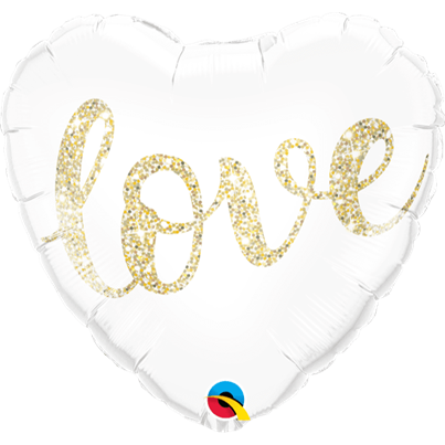 Qualatex 'Love' Gold Foil Balloon