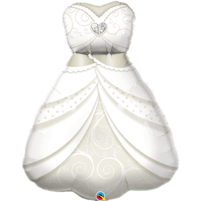 Qualatex Wedding Dress Supershape