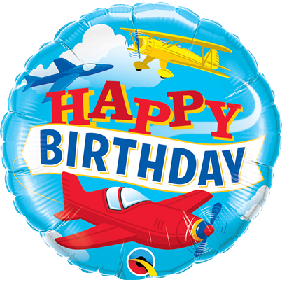 Amscan Happy Birthday Planes