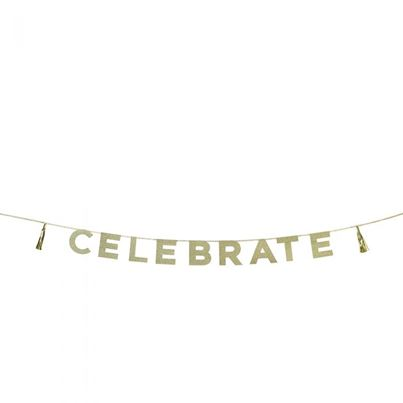 Talking Tables 'Celebrate' Gold Garland