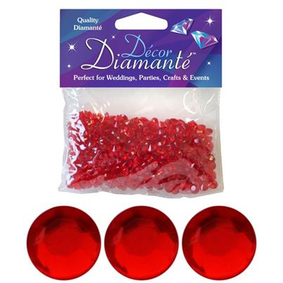 Red 6mm Diamantes
