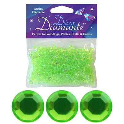Lime Green 6mm Diamantes