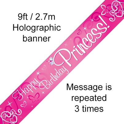 Oaktree Happy Birthday Princess Banner