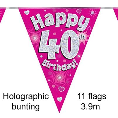 Oaktree Happy 40th Birthday Bunting