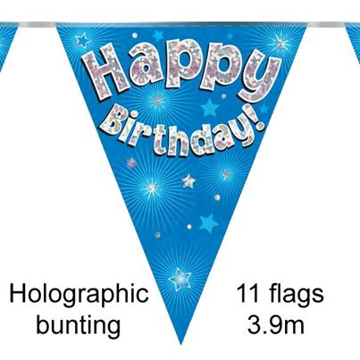 Happy Birthday Bunting Blue