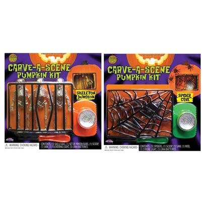 Palmer Carve-A-Scene Pumpkin Carving Kit Assorted