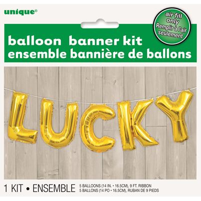 Unique Lucky Letter Balloon Kit