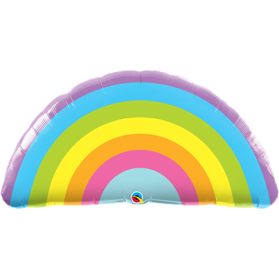 Qualatex Pastel Rainbow Foil Balloon