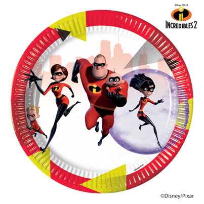 Incredibles Plates 8Pk