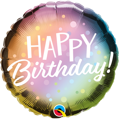 Qualatex Birthday Ombre Foil Balloon