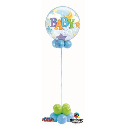 Qualatex Baby Boy Bubble Fun Base
