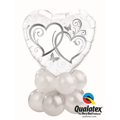 Qualatex Entwined Hearts Silver Mini
