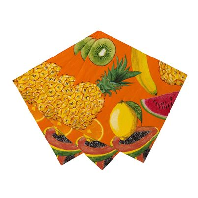 Tropical Fruity Napkins 20pk