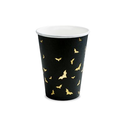 PartyDeco Trick or Treat Bat Cups 6pk