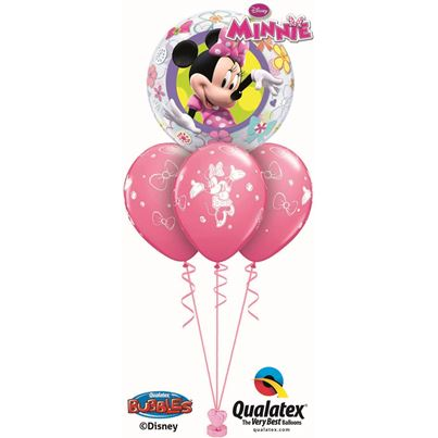 Qualatex Minnie Mouse Bowtique Bubble Layer Base