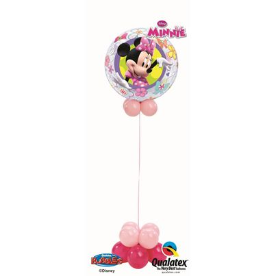 Qualatex Minnie Mouse Bowtique Bubble Fun Base
