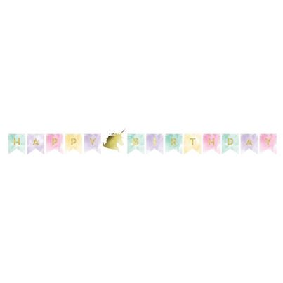 Creative Party Unicorn shaped banner Sparkle