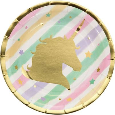 Creative Party Unicorn Sparkle Luncheon Plate