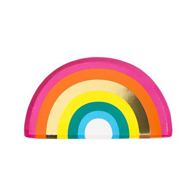 Talking Tables Rainbow Paper Plates 12pk