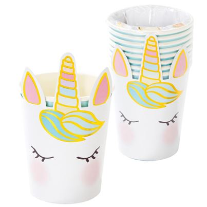 Unicorn Head Cups 8pk