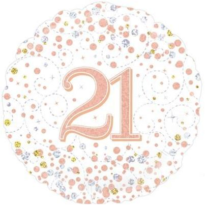 Oaktree Age 21 Rose Gold Birthday Foil