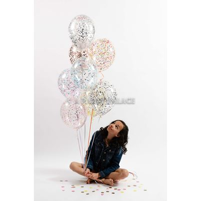 Qualatex Individual In House Confetti Balloons 11 Inch