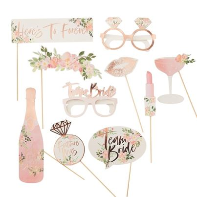 'Team Bride' Photobooth Props