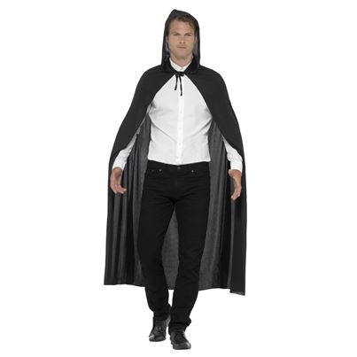 Smiffys Hooded Black Cape
