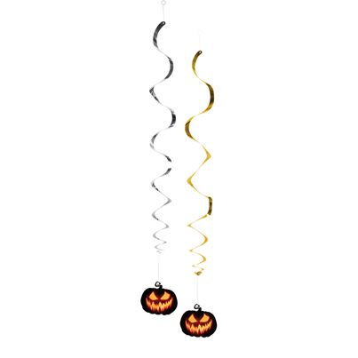Creepy Pumpkin Swirl Decorations