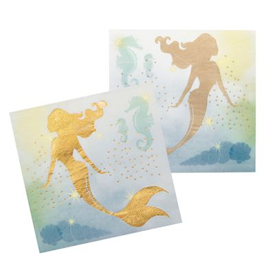 Mermaid Napkins 12pk