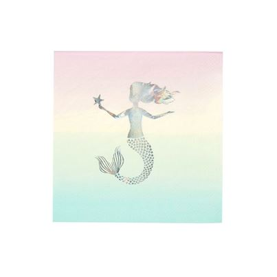 Mermaid Napkins 16pk