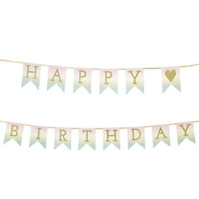 Pastel 'Happy Birthday' Garland