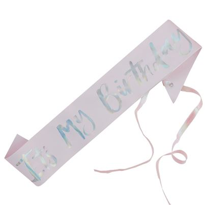 'It's My Birthday' Sash