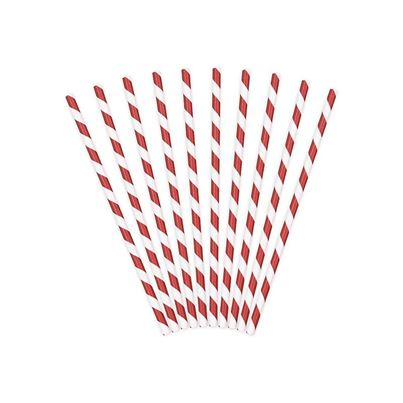 Paper Straws Red