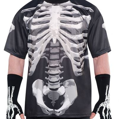Amscan Black and Bone X-Ray Shirt