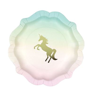 TTables Unicorn Plate 12pk