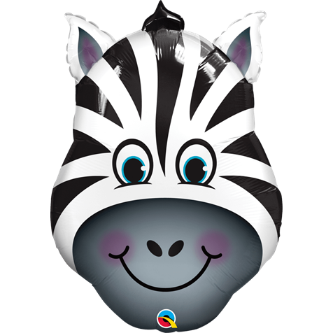 Zebra Face Supershape Foil
