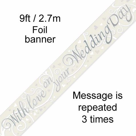 With Love On Your Wedding Day Banner