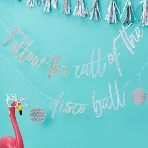 Good vibes Disco Ball Bunting