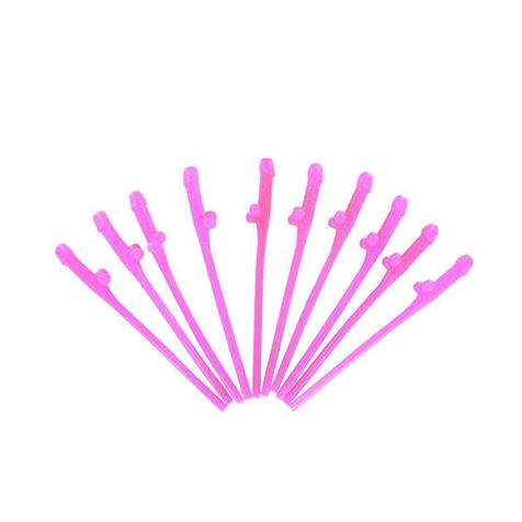 Willy Straws Hot Pink 10pk
