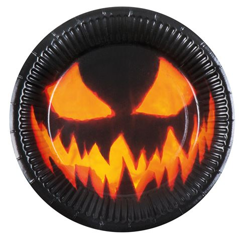 Creepy Pumpkin Plates 6Pk